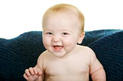 Bebé de sorriso Fotografia de Stock
