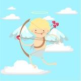 Bebé del ángel en el cielo Imágenes de archivo libres de regalías