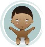 Bebé del afroamericano Fotos de archivo