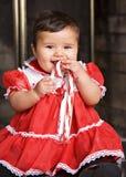 Bebé del bastón de caramelo imágenes de archivo libres de regalías