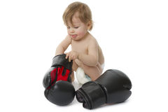 Bebé del boxeo Imagenes de archivo
