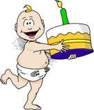 Bebé del cumpleaños Imágenes de archivo libres de regalías