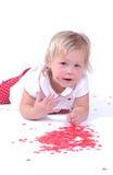 Bebé del día de tarjeta del día de San Valentín Imagen de archivo libre de regalías