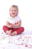 Bebé del día de tarjeta del día de San Valentín Fotografía de archivo libre de regalías