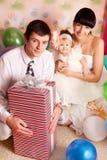 Bebé del feliz cumpleaños Imagen de archivo libre de regalías