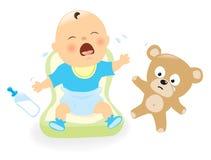 Bebé del grito ilustración del vector