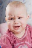 Bebé del grito Imagenes de archivo