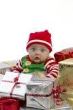 Bebé del regalo de Navidad Fotografía de archivo libre de regalías