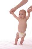 Bebé derecho en blanco Fotos de archivo libres de regalías