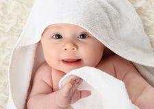 Bebé después del baño Fotografía de archivo