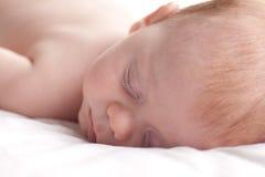 Bebé durmiente. Fotografía de archivo