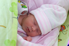 Bebé durmiente Foto de archivo libre de regalías