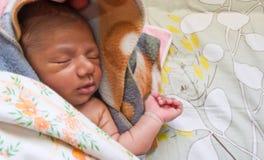Bebé durmiente con el copyspace Foto de archivo libre de regalías
