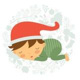 Bebé durmiente hermoso Imagen de archivo libre de regalías