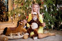 Bebé e matriz Fotos de Stock Royalty Free