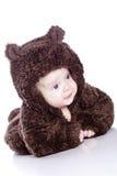 Bebé em um terno do urso imagem de stock royalty free