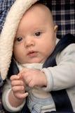 Bebé en asiento de coche foto de archivo
