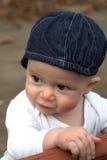 Bebé en banco Fotos de archivo libres de regalías