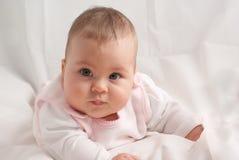 Bebé en blanco Foto de archivo