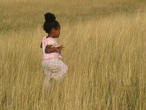 Bebé en campos Fotos de archivo