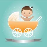 Bebé en carro Fotos de archivo libres de regalías