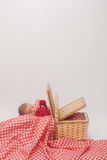 Bebé en cesta Fotografía de archivo