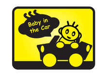 Bebé en coche stock de ilustración