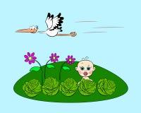 Bebé en col stock de ilustración