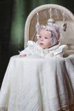 Bebé en cuna Fotografía de archivo