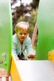 Bebé en diapositiva Fotografía de archivo