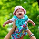 Bebé en el aire Imagen de archivo libre de regalías