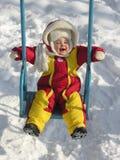Bebé en el balancín Imagen de archivo
