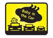 Bebé en el coche stock de ilustración