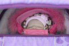 Bebé en el cochecito Foto de archivo