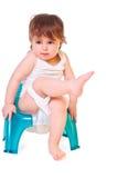 Bebé en el crisol imágenes de archivo libres de regalías