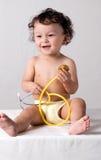 Bebé en el doctor. Imagenes de archivo