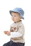 Bebé en el fondo blanco imagen de archivo