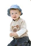 Bebé en el fondo blanco Fotos de archivo