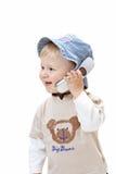 Bebé en el fondo blanco Fotografía de archivo libre de regalías