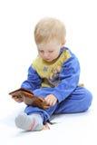 Bebé en el fondo blanco imágenes de archivo libres de regalías