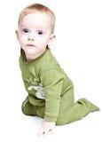 Bebé en el fondo blanco Imagen de archivo libre de regalías