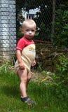Bebé en el jardín Fotografía de archivo libre de regalías