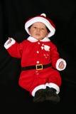 Bebé en el juego de Santa Foto de archivo libre de regalías