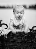 Bebé en el lago Fotografía de archivo libre de regalías