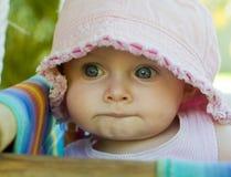 Bebé en el oscilación Foto de archivo