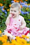 Bebé en el parque del verano Imagenes de archivo