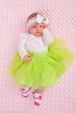 Bebé en equipo lindo Fotografía de archivo