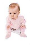 Bebé en escalas Imágenes de archivo libres de regalías