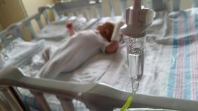 bebé en hospital Foto de archivo
