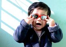 Bebé en humor Foto de archivo